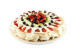 Cake Pavlova arkivbild