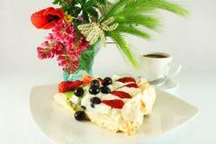 Cake Pavlova arkivbilder