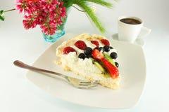 Cake Pavlova Stock Image
