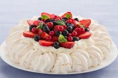 Cake Pavlova. Stock Images