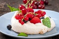 Cake Pavlova Stock Photography