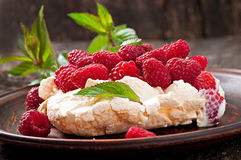 Cake Pavlova Stock Photography