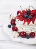 Cake Pavlova meringue Stock Image