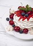 Cake Pavlova meringue Stock Photography
