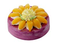 Cake with peach Royalty Free Stock Image