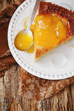 Cake with pear jam Royalty Free Stock Photo