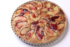 Cake with pears in french tart pan Royalty Free Stock Images
