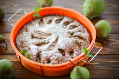 Cake with pears Stock Photography