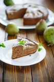 Cake with pears Stock Photo