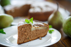 Cake with pears Stock Image