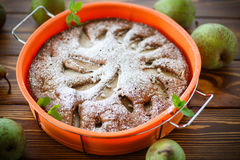 Cake with pears Royalty Free Stock Images