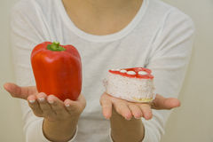 Cake or pepper? closeup details Stock Images