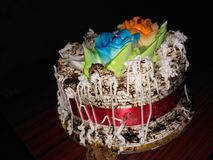 Cake pestries brithday cake Brithdaytime Stock Foto's