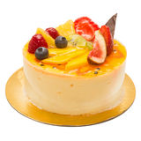 Cake pie with fruit and creme Stock Photo