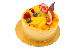 Cake pie with fruit and creme Royalty Free Stock Photo