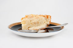 Cake pie on plate Royalty Free Stock Photography