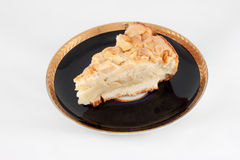 Cake pie on plate Royalty Free Stock Images