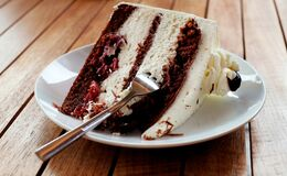 Cake, Piece Of Pie, Black Forest Stock Images