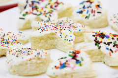 Cake pieces with sprinkles Stock Photo