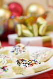 Cake pieces with sprinkles Stock Image