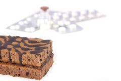 Cake and pills Stock Photo