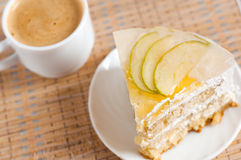 cake with pineapple and apple Stock Images