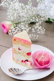 Cake and pink candy Stock Photography