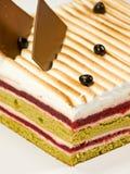 Cake pistachio, strawberries and cream Stock Photo