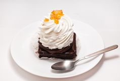 Cake on a plate Stock Photography