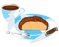 Cake on plate Royalty Free Stock Photo