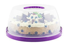 Cake plate cover with tart Stock Image