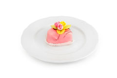 Cake on a plate Royalty Free Stock Photo