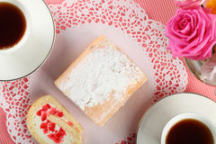 Cake. On the plate - Sweet Food Royalty Free Stock Images