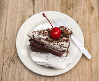 Cake on the plate - Sweet Food Royalty Free Stock Photo