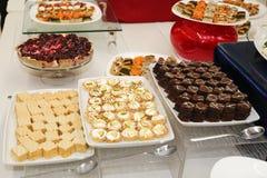 Cake plates Royalty Free Stock Photos