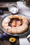 Cake with plums Stock Photos