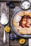 Cake with plums Stock Photo