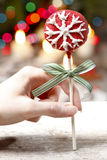 Cake pop - a form of cake styled as a lollipop, invented in USA. Royalty Free Stock Photos