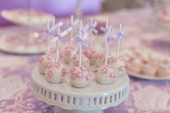 Cake pop. S at wedding party stock photos