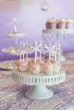 Cake pop. S at wedding party Royalty Free Stock Photography