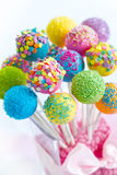 Cake pops. Assortment of brightly colored cake pops Royalty Free Stock Images