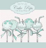 Cake Pops background Royalty Free Stock Photography