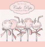 Cake Pops background Stock Image