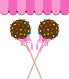 Cake pops with canopy Stock Image