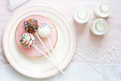 Cake pops royalty free stock image