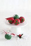 Cake Pops for Christmas Stock Image