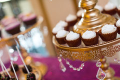 Cake pops and cupcakes Stock Photography