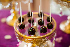 Cake pops and cupcakes Stock Image