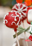 Cake pops - a form of cake styled as a lollipop, invented in USA Royalty Free Stock Photos