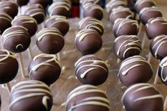 Chocolate Cakepop Stock Images